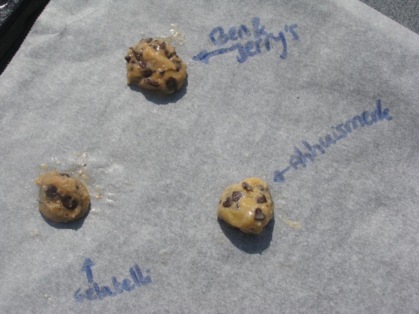cookie dough ijs bakken