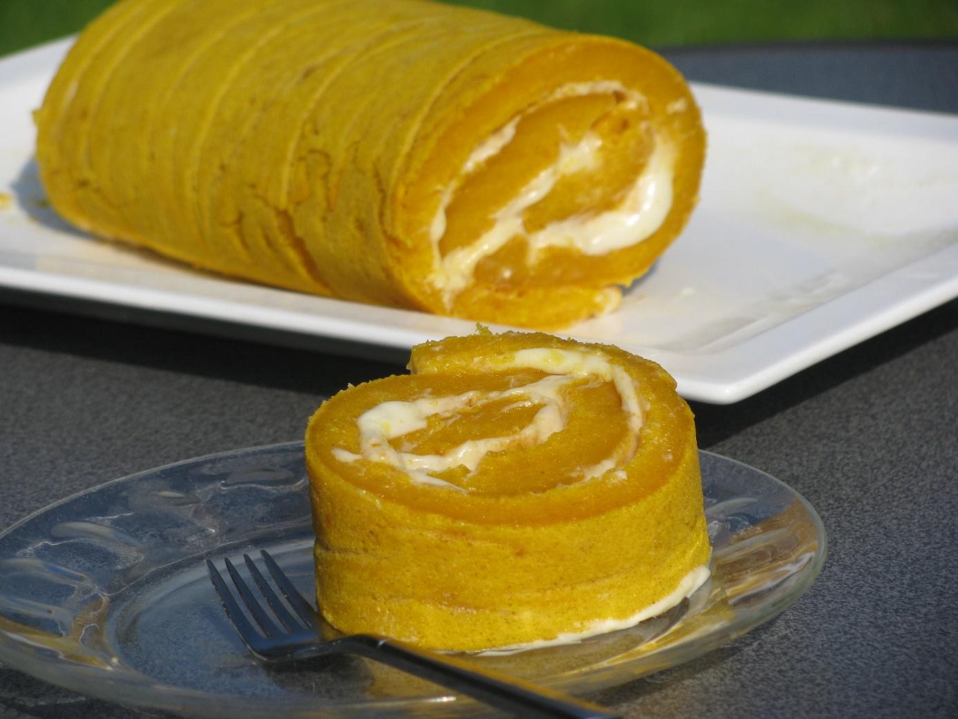 Pumpkin cake roll recept
