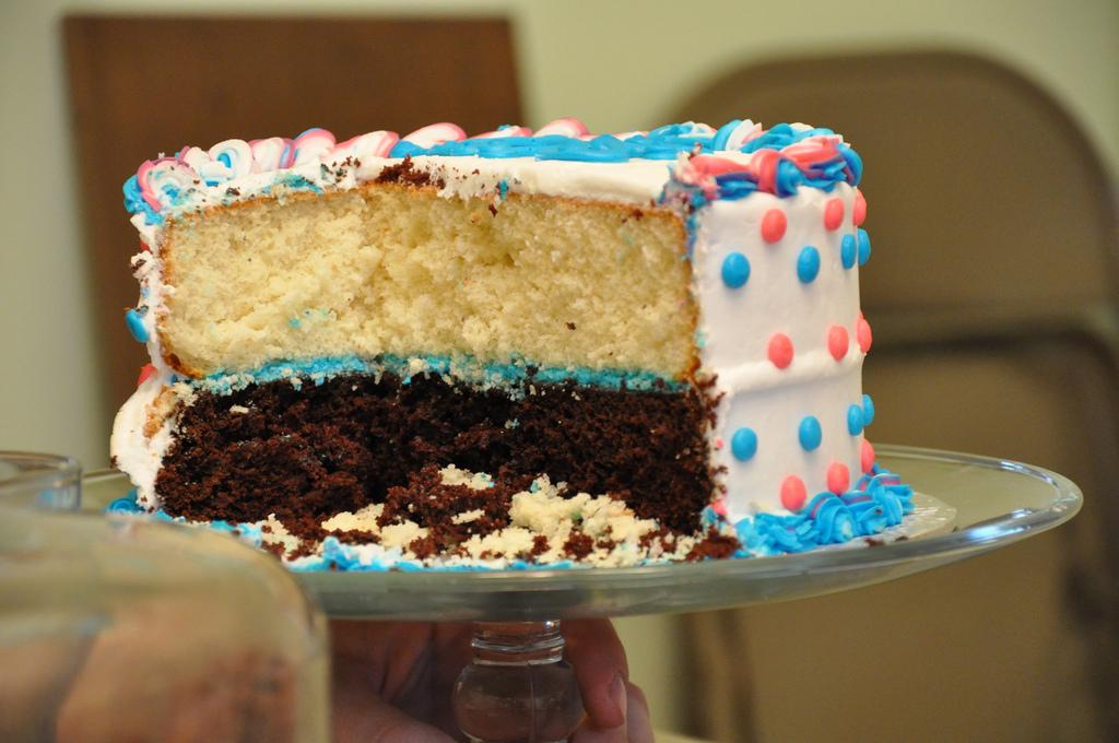 New Baby Reveal Cake