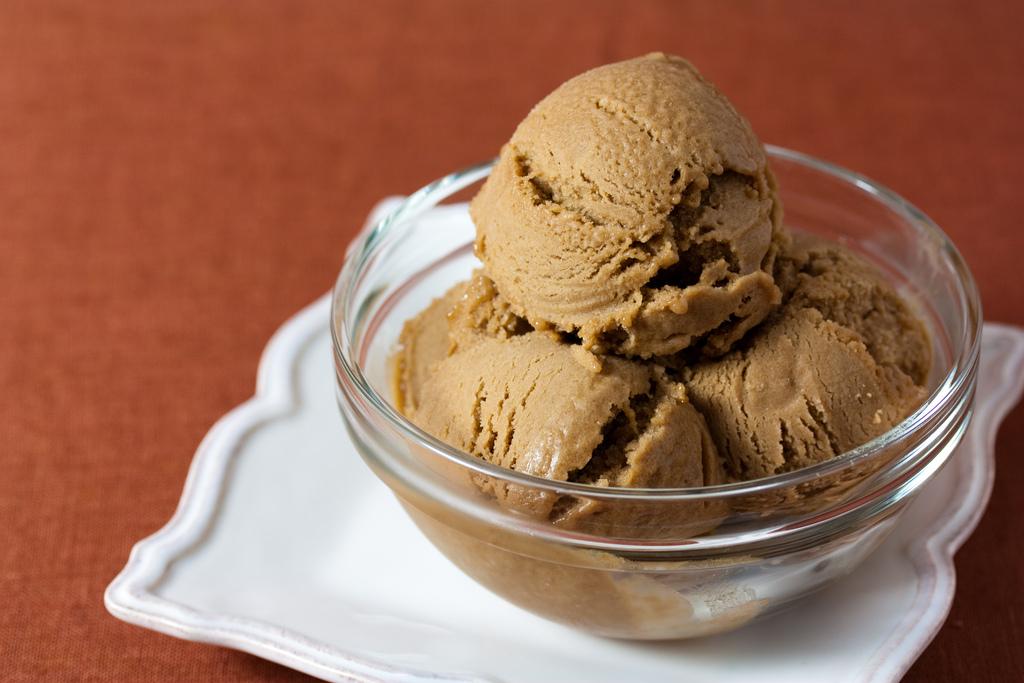 Vegan Hazelnut Coffee Ice Cream