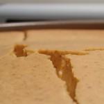 Waarom scheurt een cheesecake?