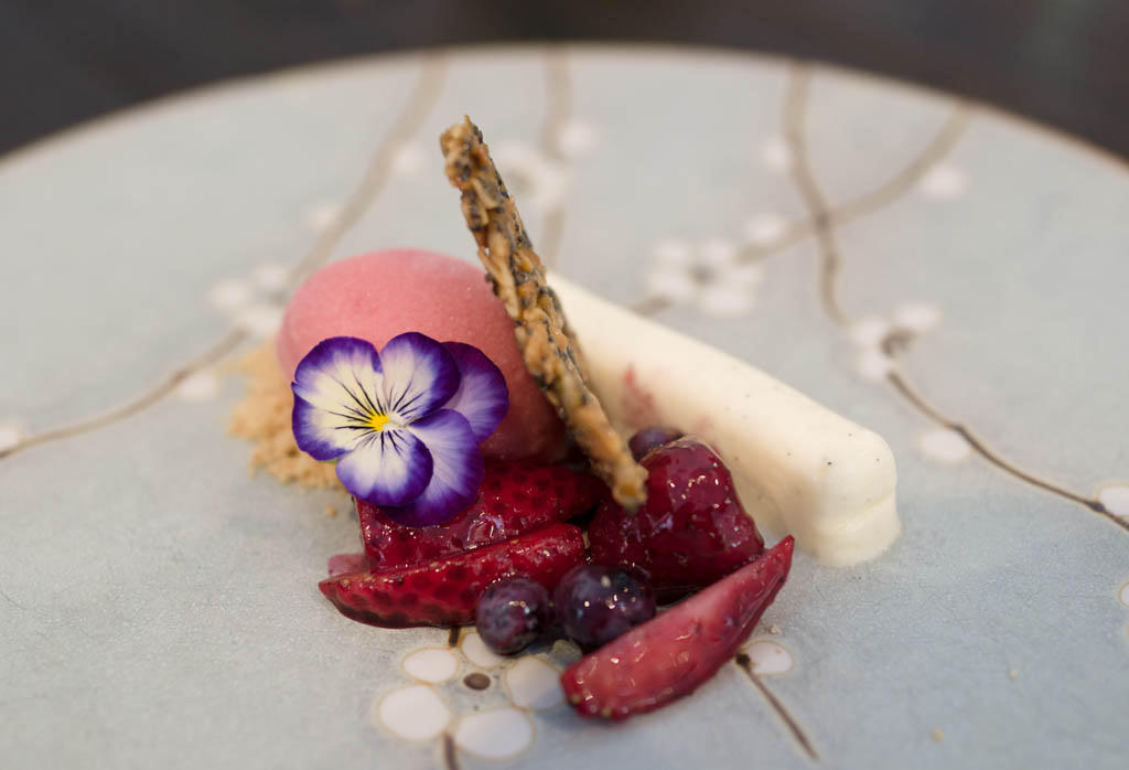 Yoghurt pannacotta and berries