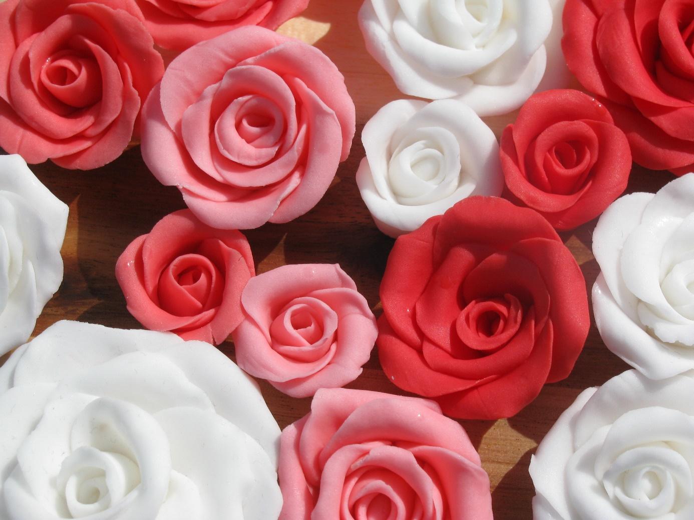 fondant bloemen maken