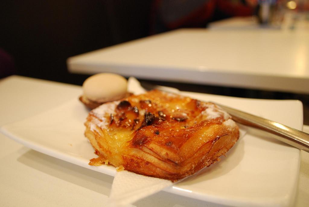 Almond Danish AUD3.60, Coffee Macaron AUD2 - Noisette