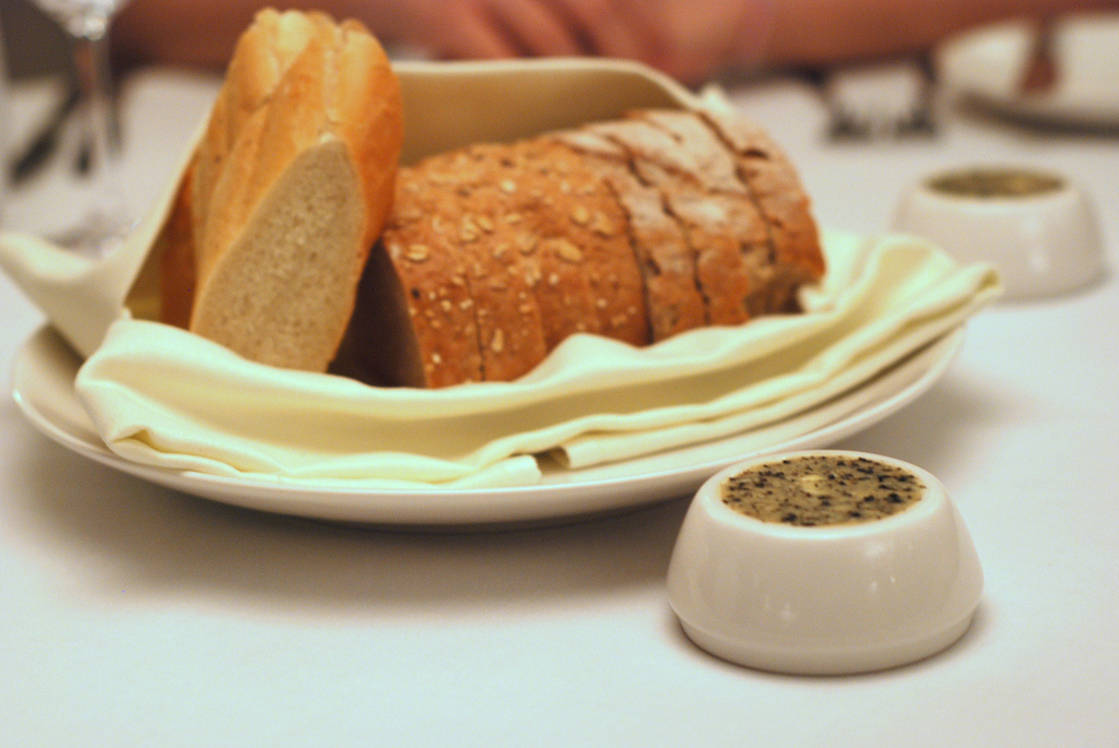Freshly Baked Bread with Black Truffle Butter