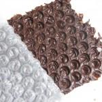 Chocoladedecoraties maken met bubbelfolie